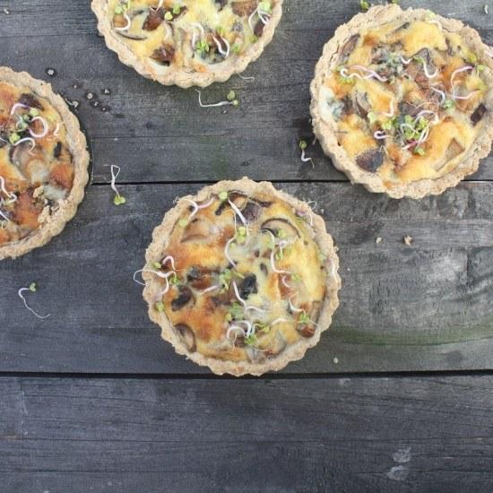 Rezept Pilze-Quiche mit Blauschimmelkäse