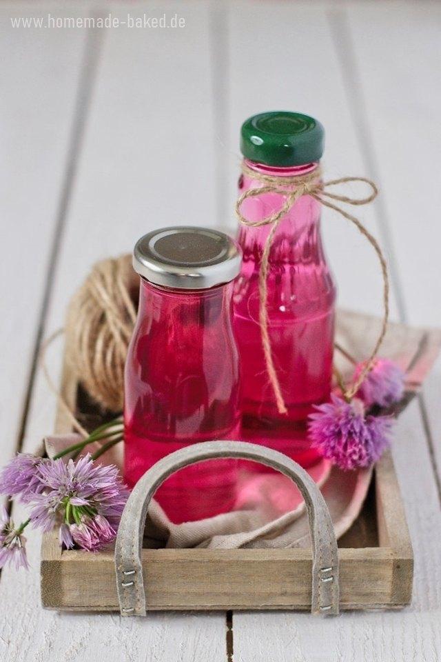 Rezept Pinker Schnittlauchblütenessig