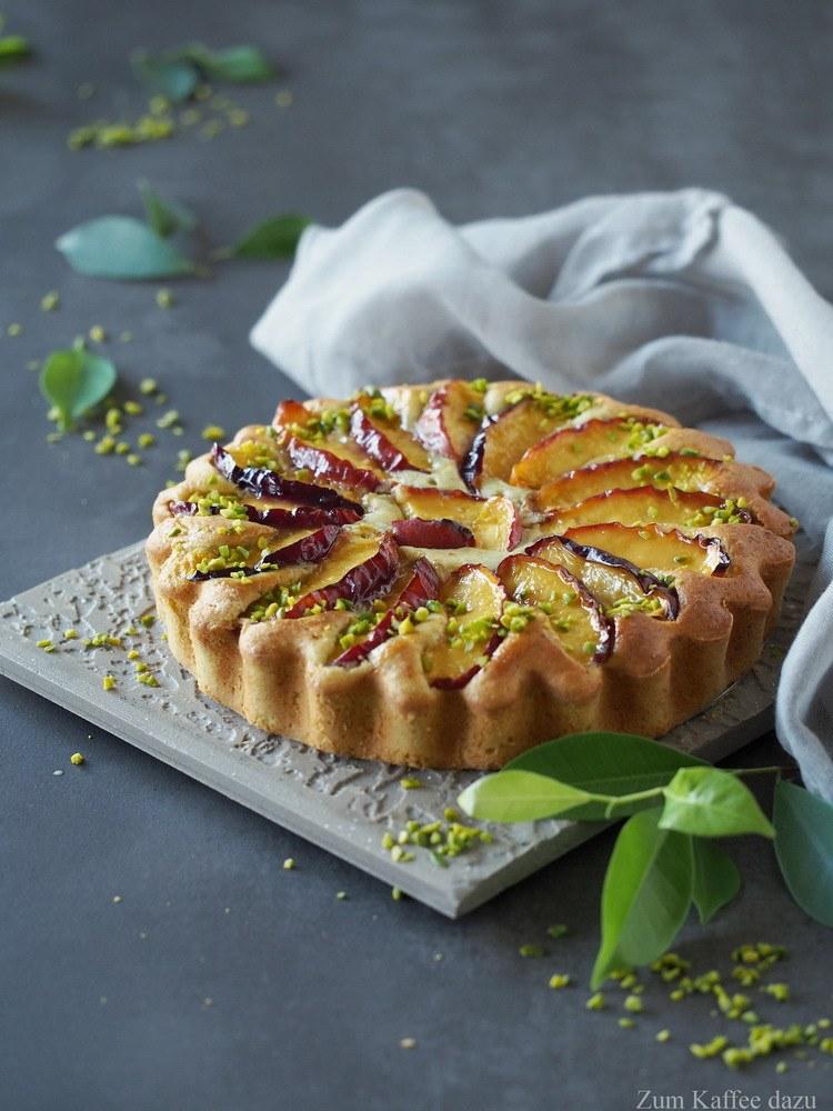 Rezept Pistazienkuchen mit Nektarine