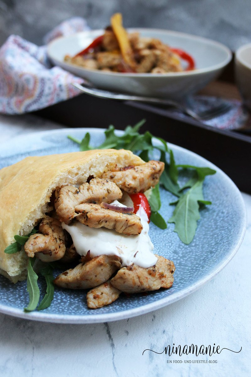 Rezept Pita-Brote mit Gyros und Tsatsiki
