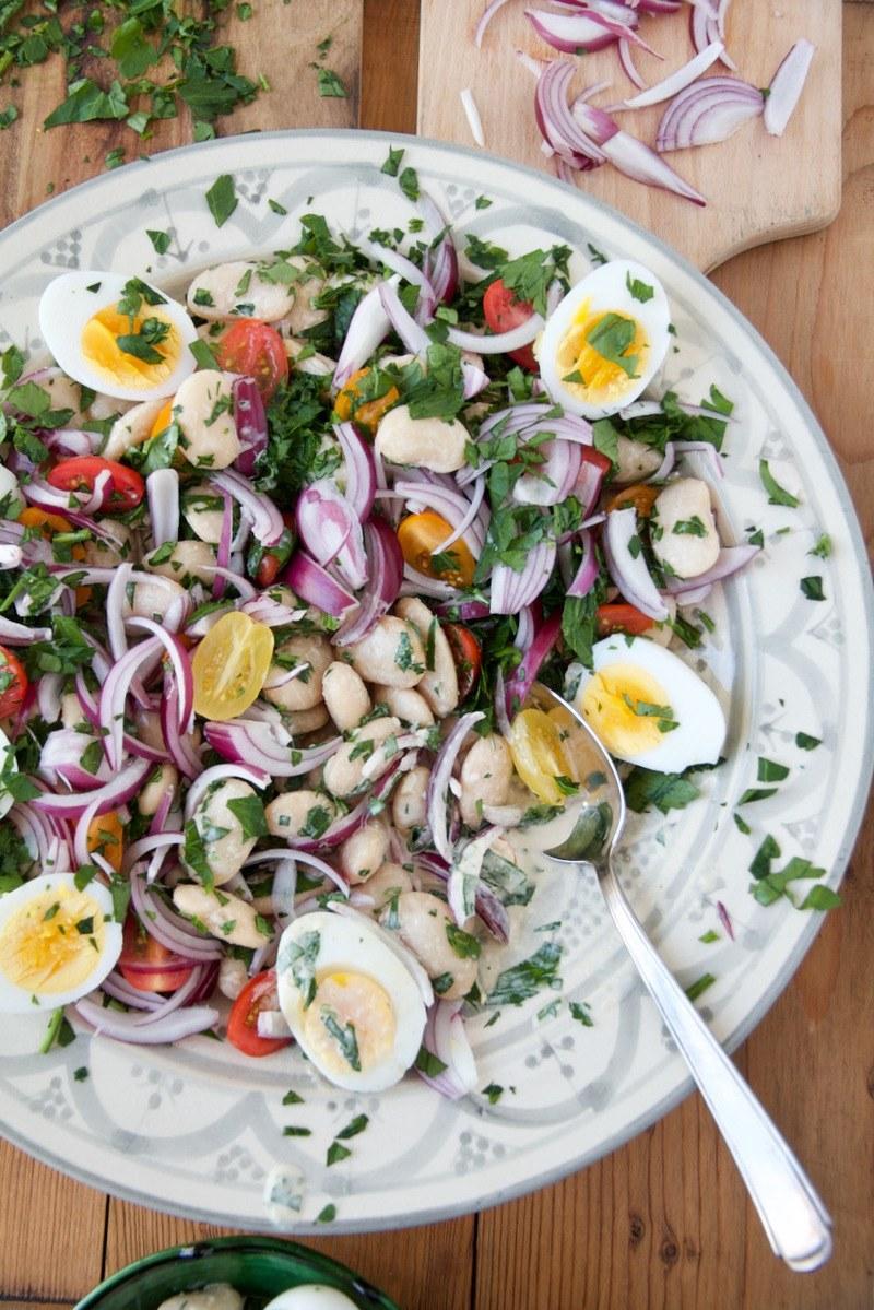 Rezept Piyaz – Weißer Riesenbohnen-Salat سالاد لوبیا سفید