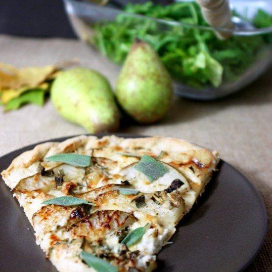Rezept Pizza mit Birne