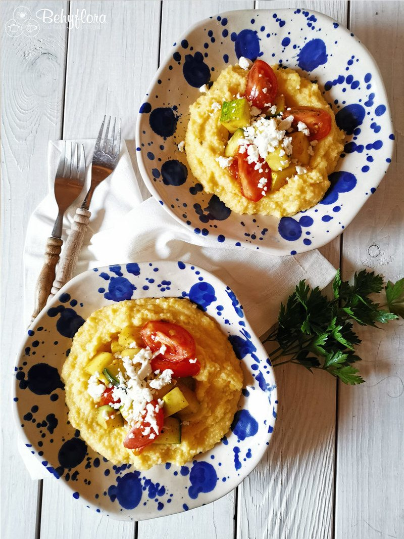 Rezept Polenta mit Zucchini und Tomaten – Spätsommer-Rezept
