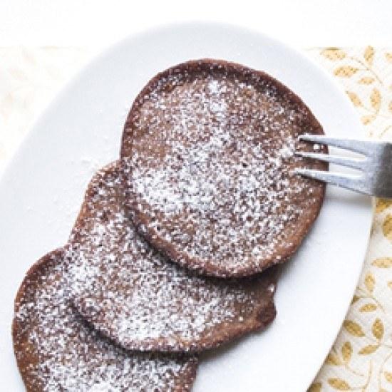 Rezept Polenta Pancakes mit Schokolade
