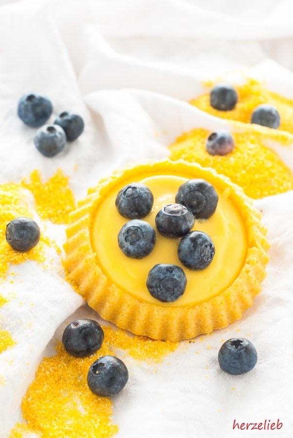 Rezept Polenta-Tartelettes mit Zitronen-Creme