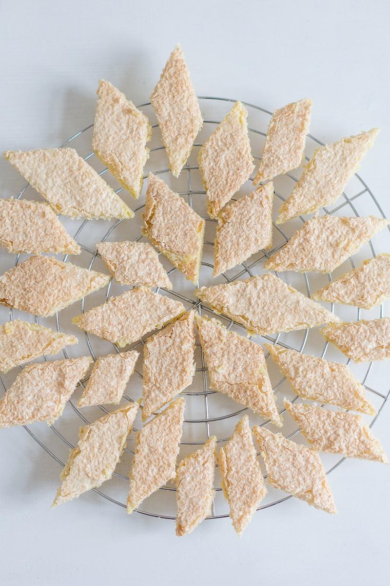 Rezept Polenta-Zitronen-Kekse mit Kokosdecke