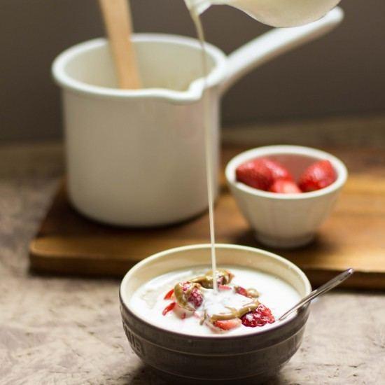 Rezept Porridge mit Nussbutter