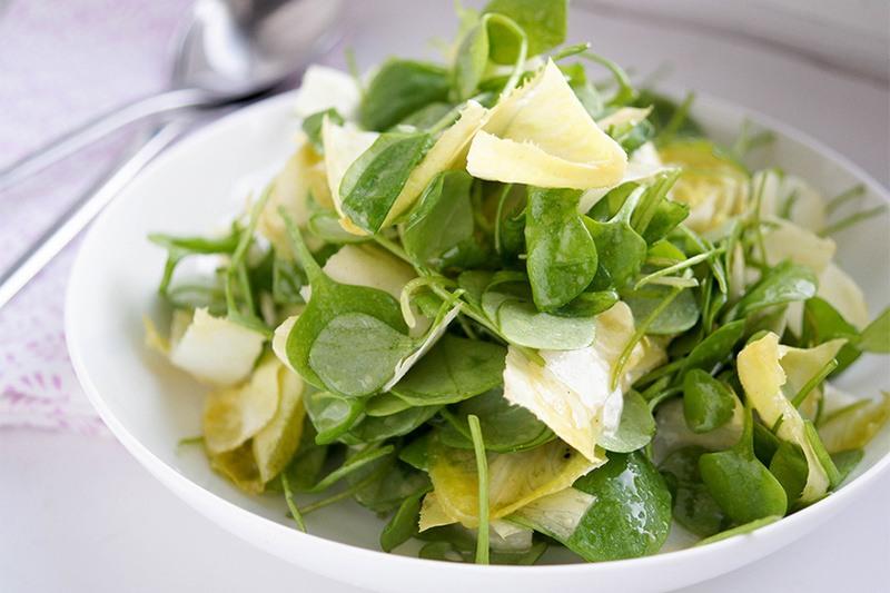 Rezept Postelein Salat mit Chicorée