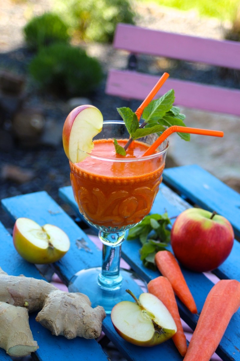 Rezept Power-Frühstücks-Saft (Möhre-Apfel-Ingwer)