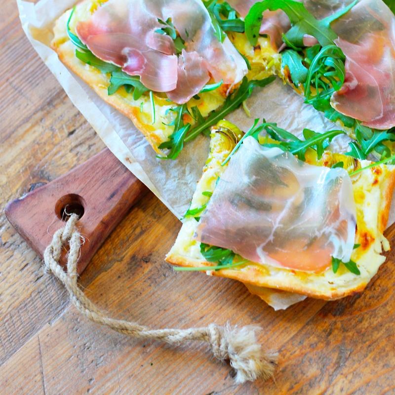 Rezept Prosciutto Rucola Flammkuchen