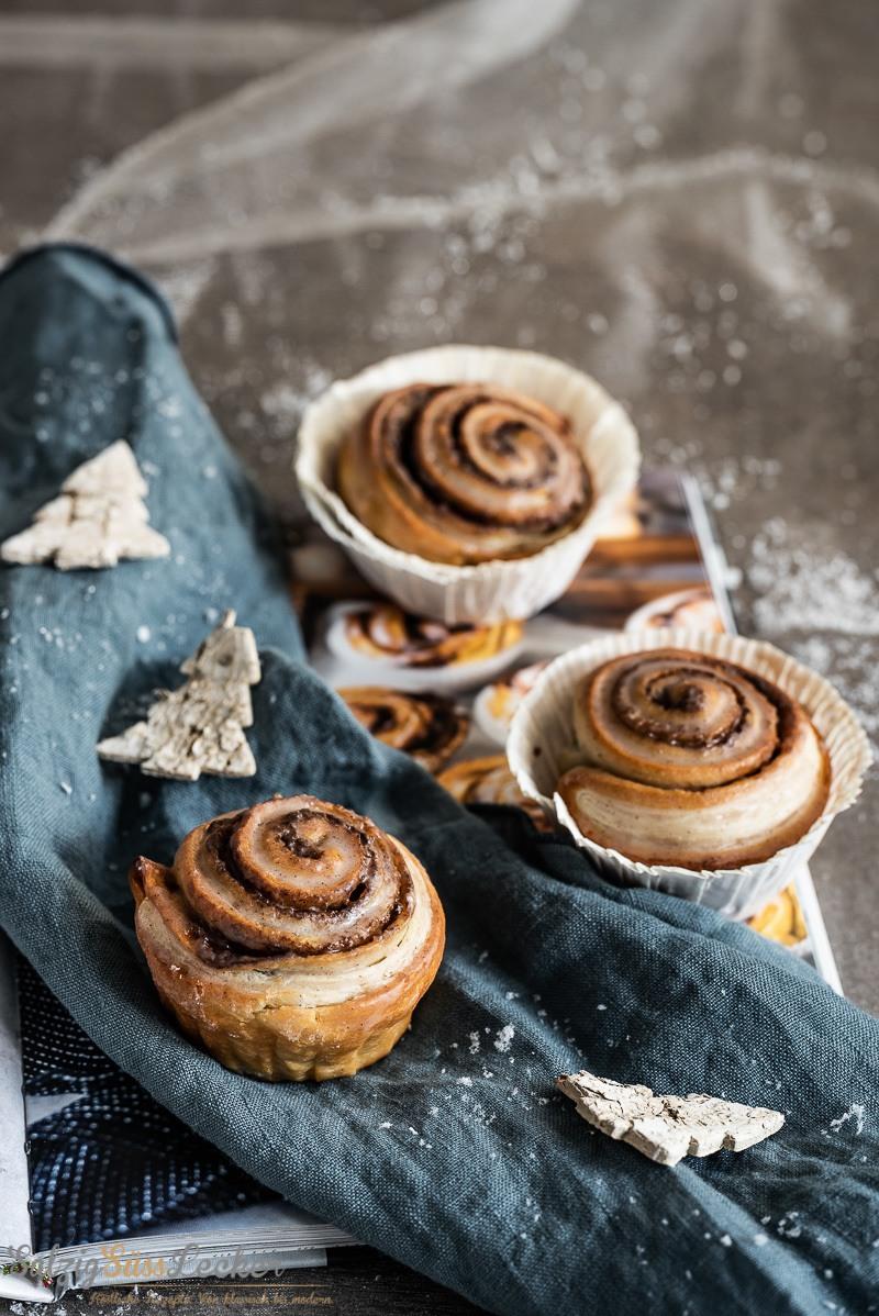 Rezept Puff Pastry Cinnamon Rolls