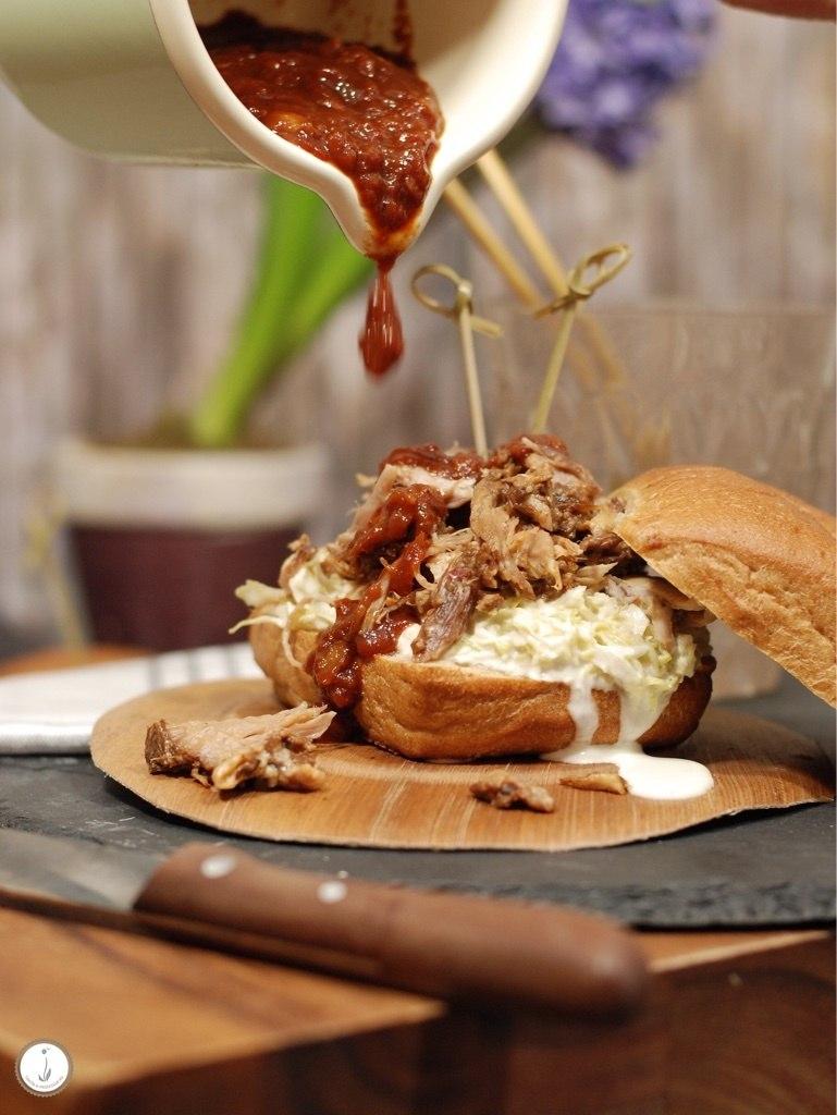 Rezept Pulled Pork-Burger mit BBQ-Sauce & Coleslaw