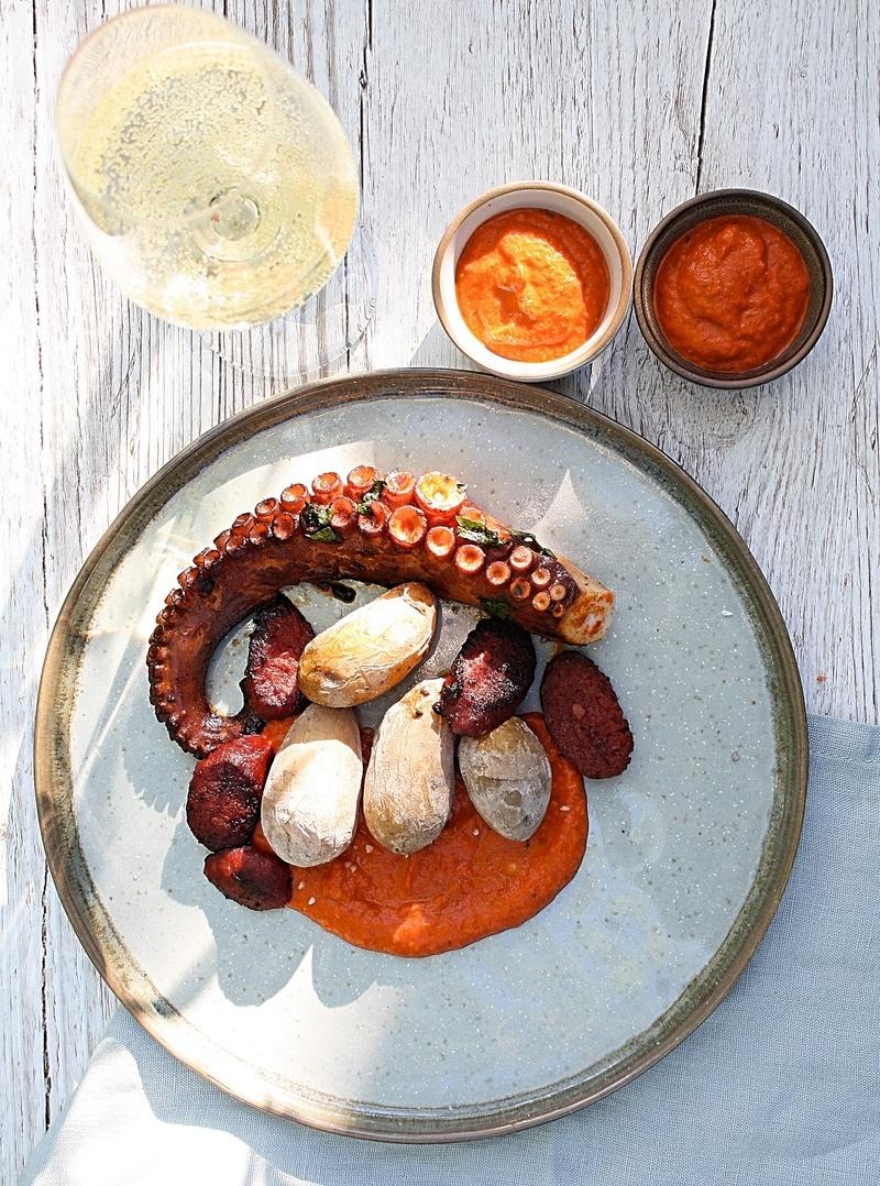 Rezept Pulpo mit Papas Arrugadas, Chorizo und Mojo rojo