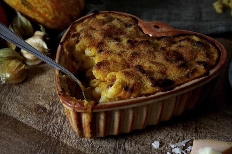 Rezept Pumpkin Mac'n'Cheese mit dreierlei Käse