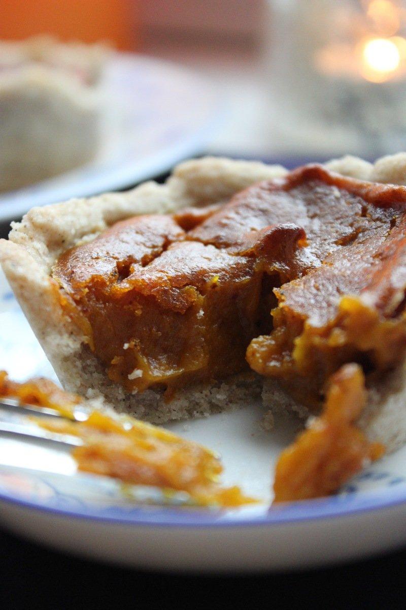 Rezept Pumpkin Pie Muffins. Vegan und glutenfrei.
