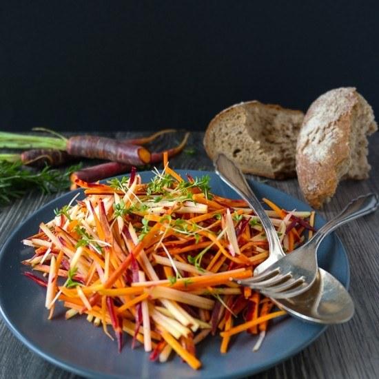 Rezept Purple Haze Möhren-Apfel-Salat