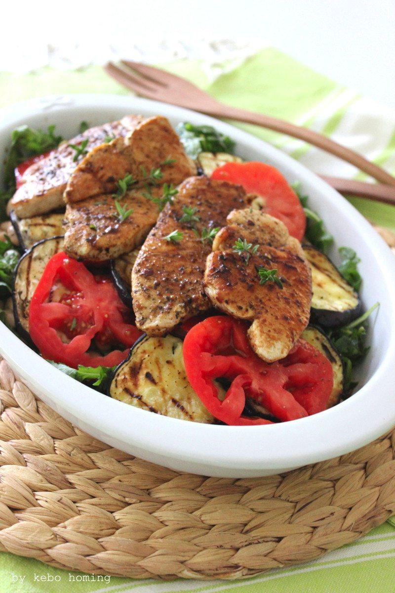 Rezept Putensteaks mariniert auf Salat