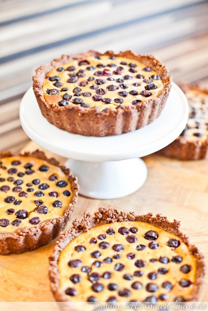 Rezept Quark-Tartelettes mit schwarzen Johannisbeeren
