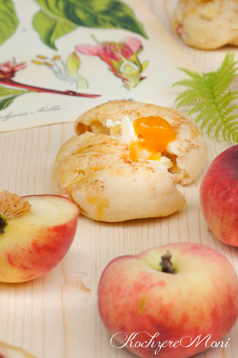 Rezept Quarkbrötchen mit wildem Bergpfirsich