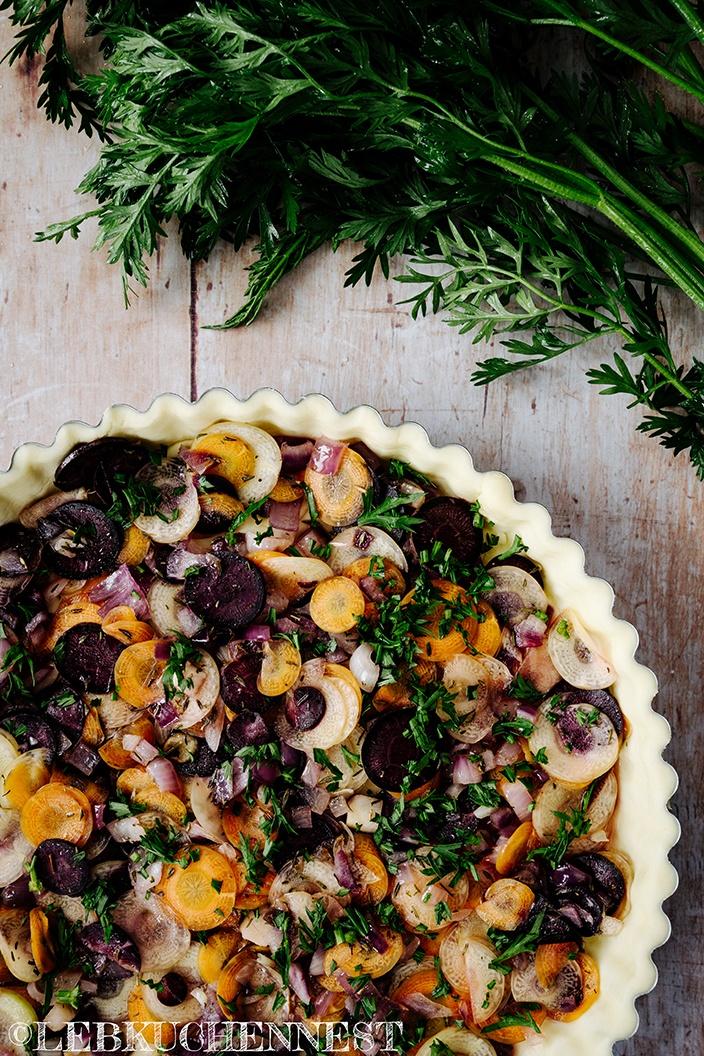 Rezept Querbeet Karottenquiche