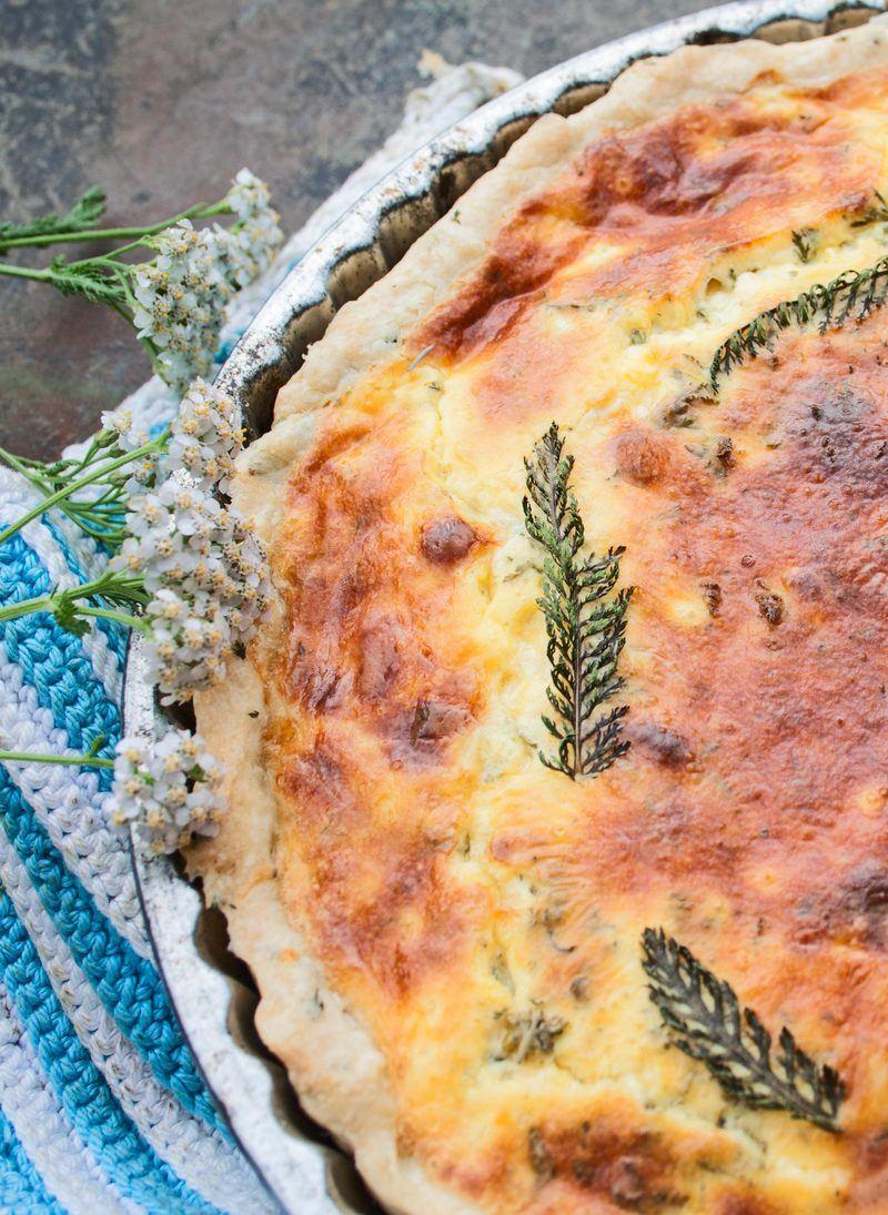 Rezept Quiche Lorraine mit Schafgarbe