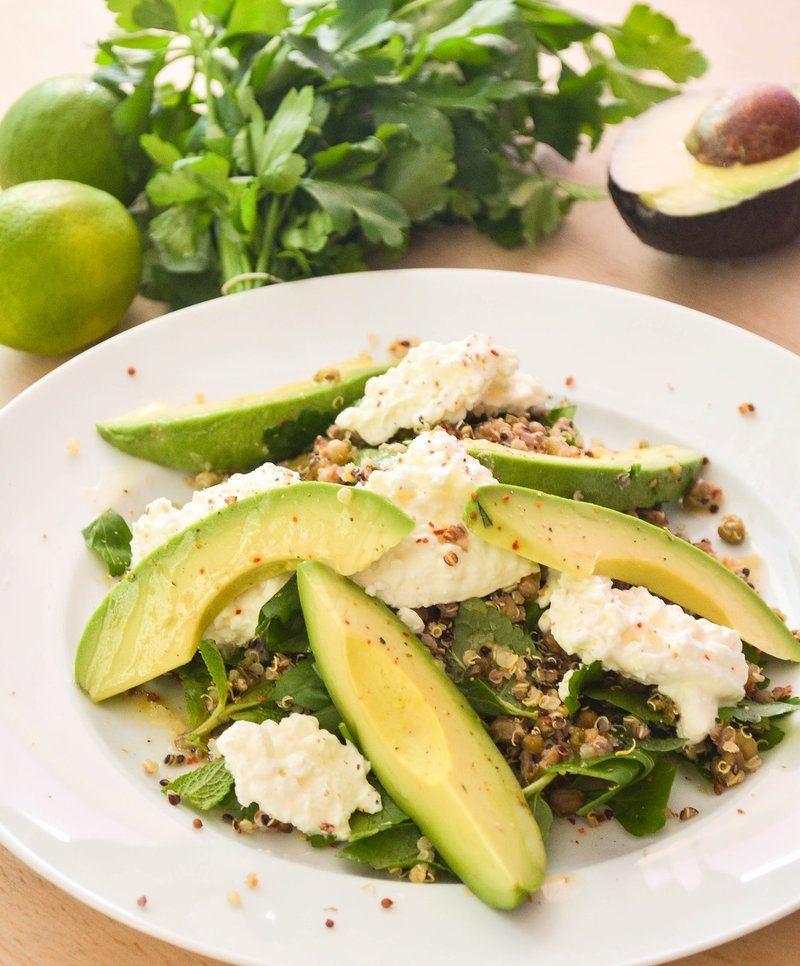 Rezept Quina-Salat mit Avocado und Mungobohnen
