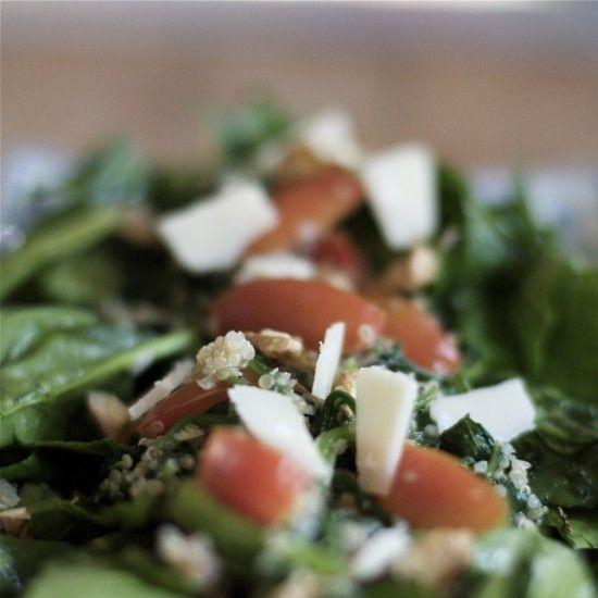 Rezept Quinoa mit Spinat, Parmesan und Walnüssen