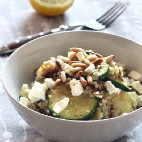 Rezept Quinoa mit Zucchini und Feta