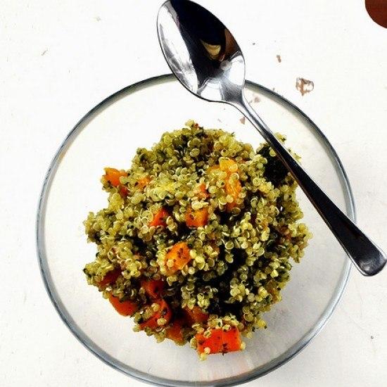 Rezept Quinoa Salat mit Chimichurri