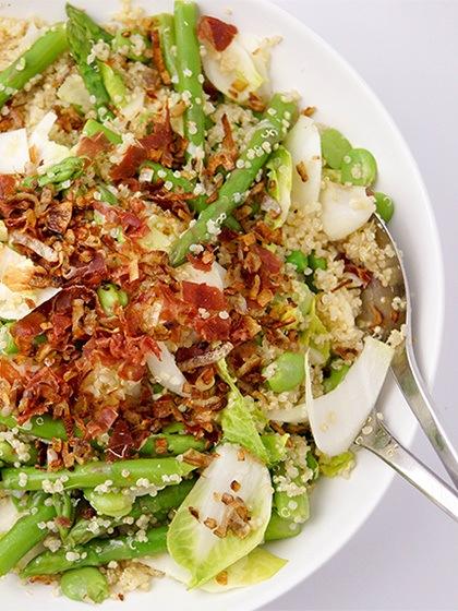 Rezept Quinoa Salat mit Erbsen, Spargel und Dicke Bohnen
