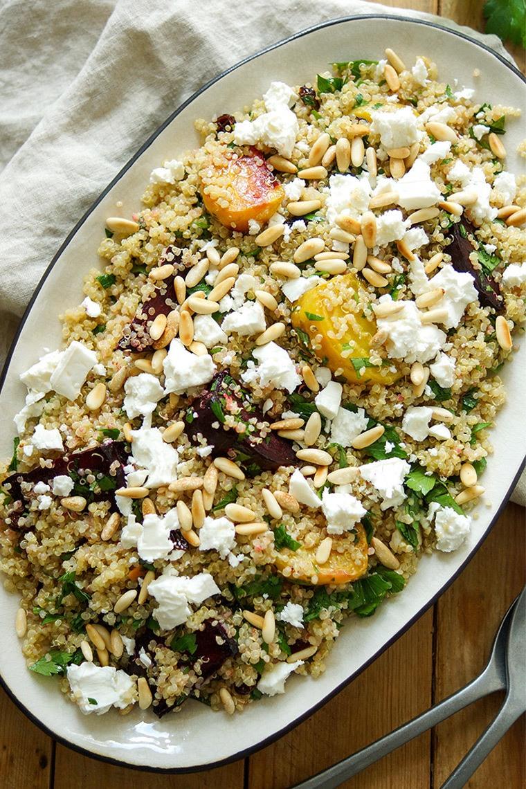 Rezept Quinoa-Salat mit Rote Bete und Feta