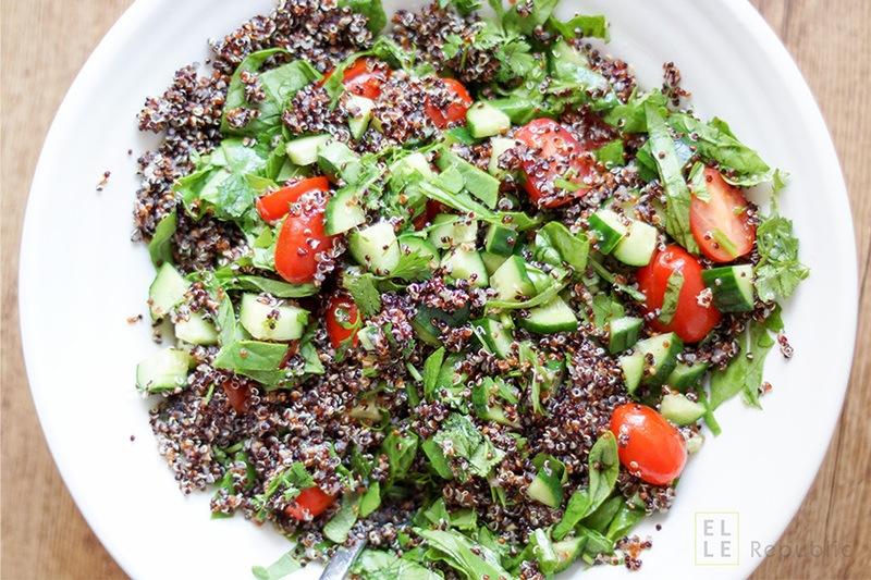 Rezept Quinoa Sommer-Salat mit Honig-Zitronen-Ingwer-Dressing