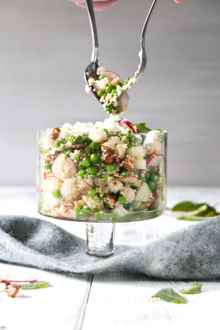 Rezept Quinoasalat mit Erbsen und Feta