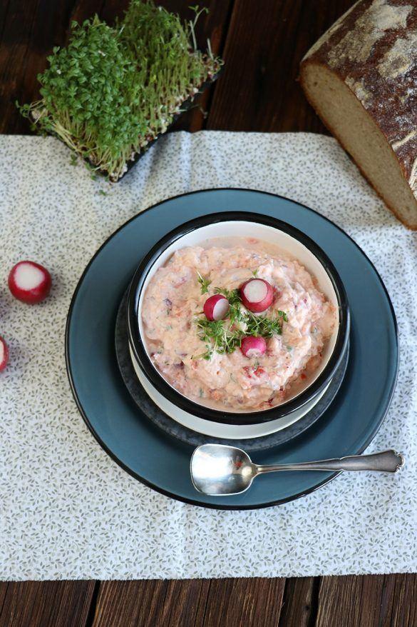 Rezept Radieschen Dip Rezept mit Frischkäse zur Brotzeit