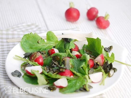 Rezept Radieschen-Grün-Salat – hier wird alles verwertet, schmeckt einfach wunderbar!
