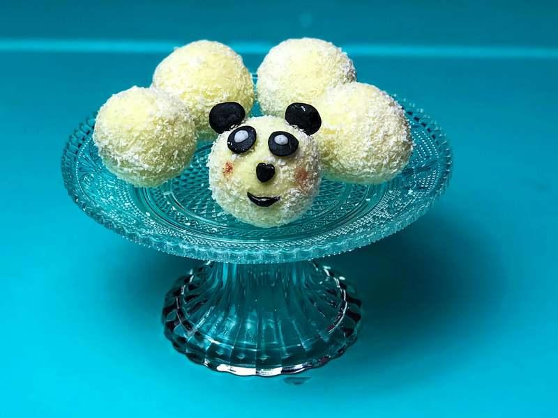 Rezept Raffaelo selber machen im Panda Look
