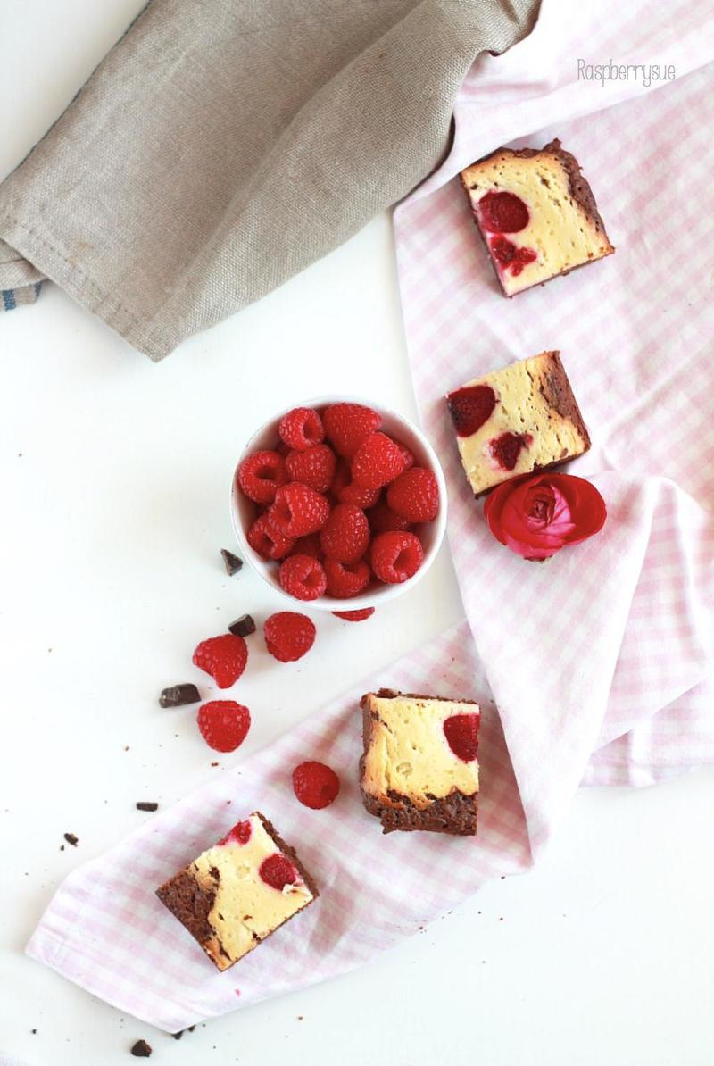 Rezept Raspberry Cheesecake Brownies