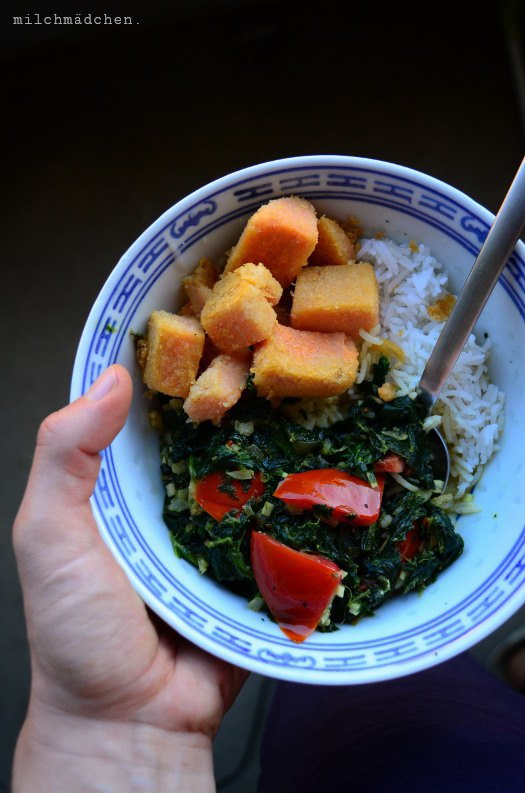 Rezept Ratzfatz-Spinat-Curry mit Linsentofu