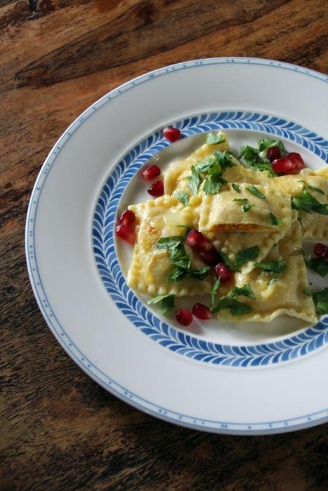 Rezept Ravioli mit Kürbis-Marzipan-Füllung