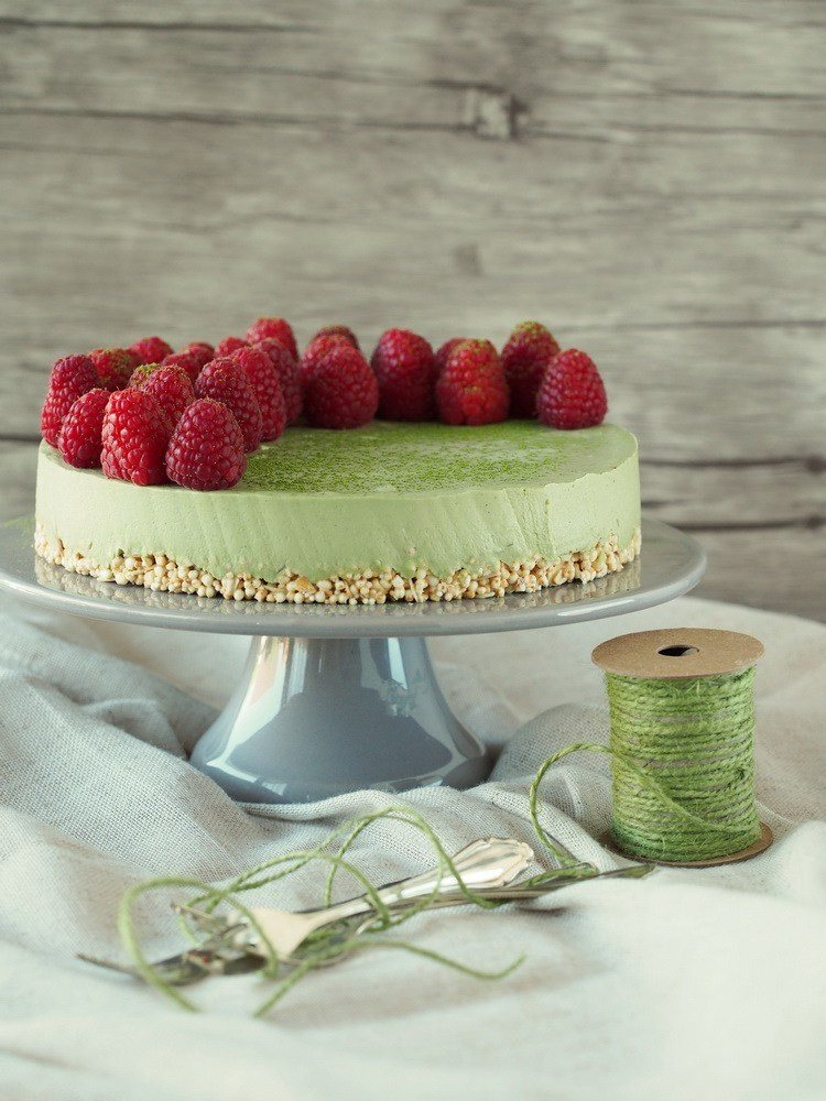 Rezept Raw Matcha-Cheesecake