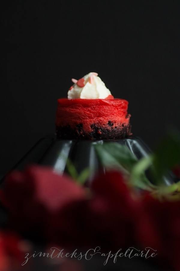 Rezept Red Velvet Mini-Cheesecakes