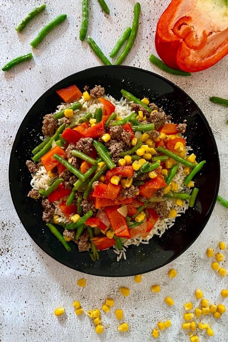 Rezept Reis-Hackfleisch-Pfanne