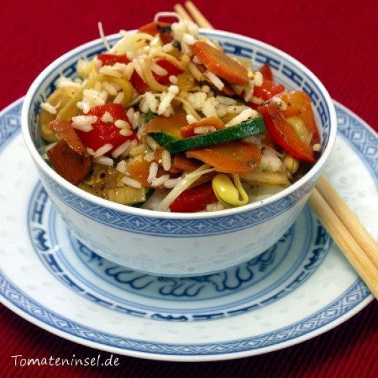 Rezept Reis mit Wokgemüse