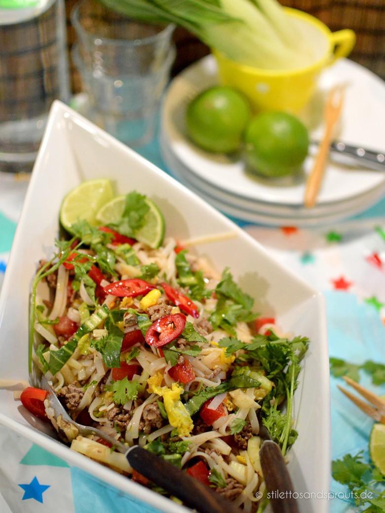 Rezept Reisnudelsalat mit Hackfleisch und Limette