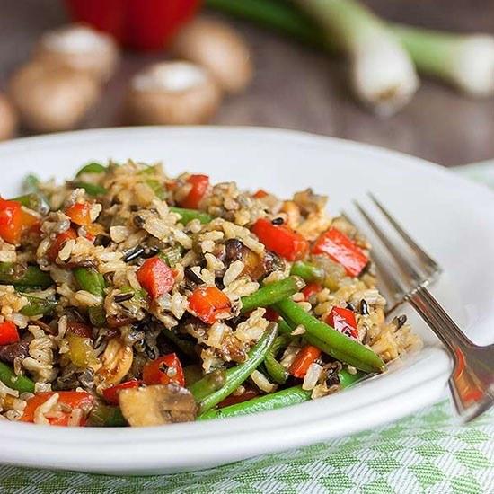 Rezept Reispfanne mit Gemüse