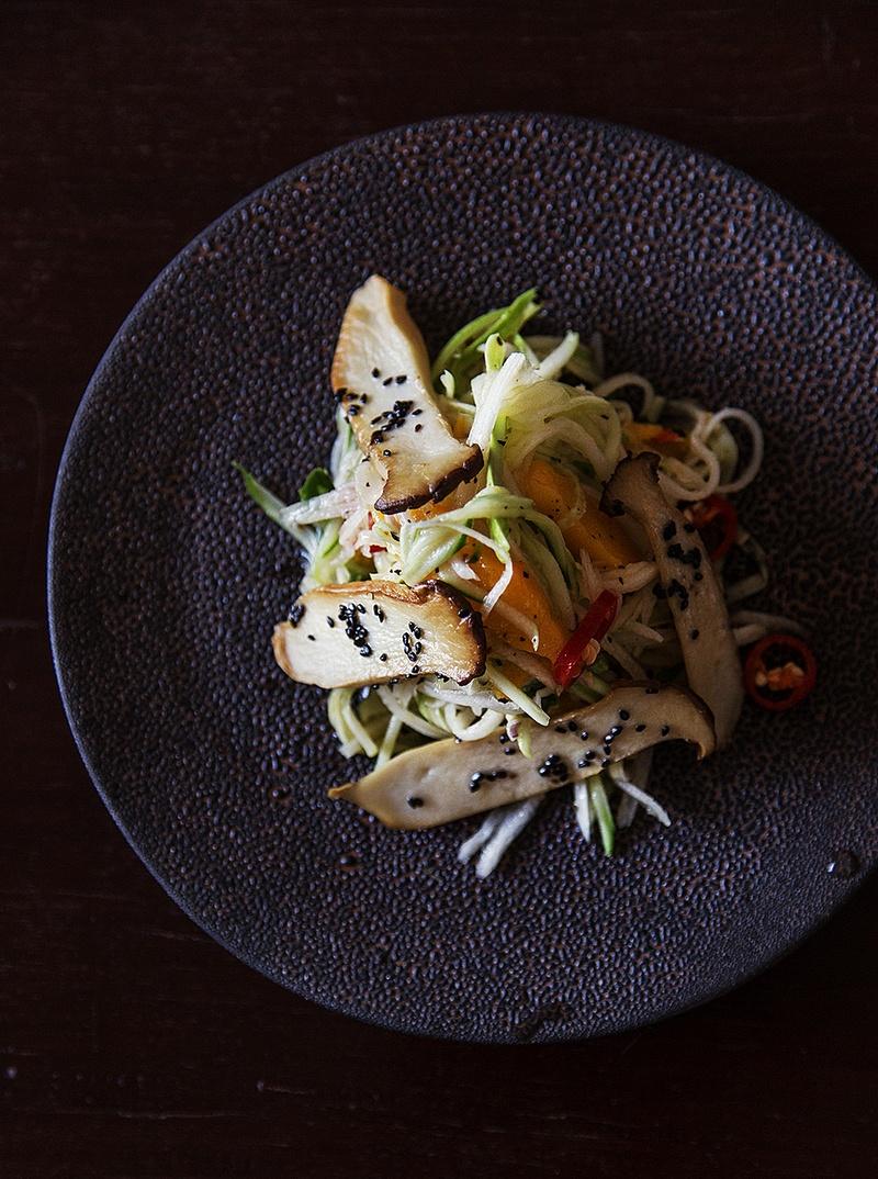 Rezept Rettich-Mango-Salat mit Kräuterseitlingen