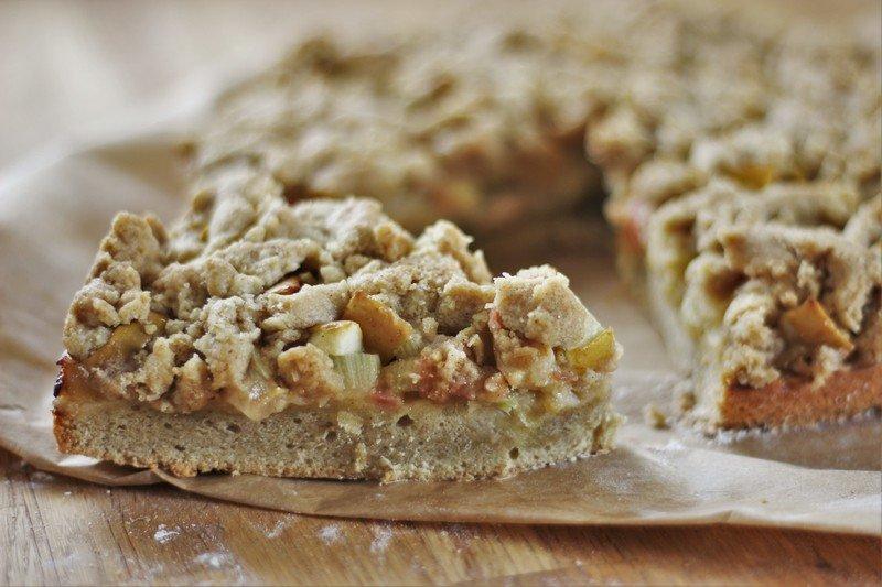 Rezept Rhabarber-Apfel-Streuselkuchen