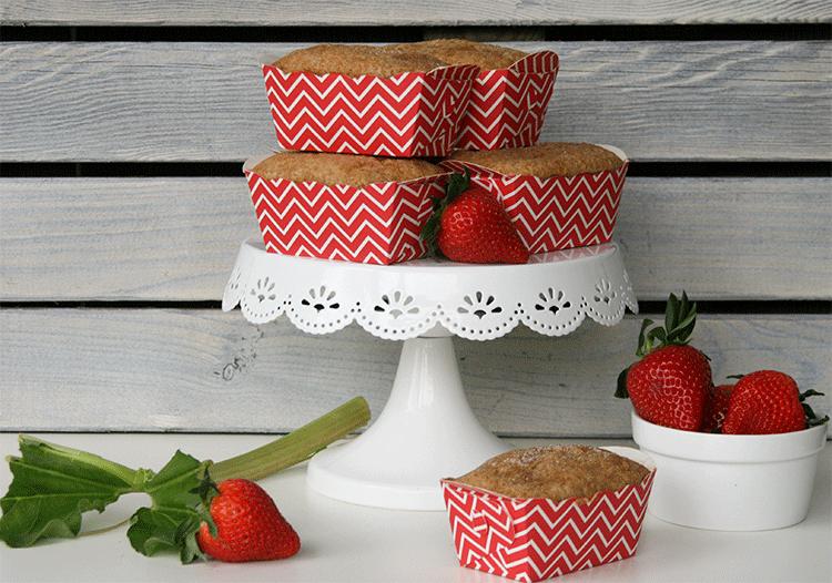 Rezept Rhabarber Erdbeer Muffins