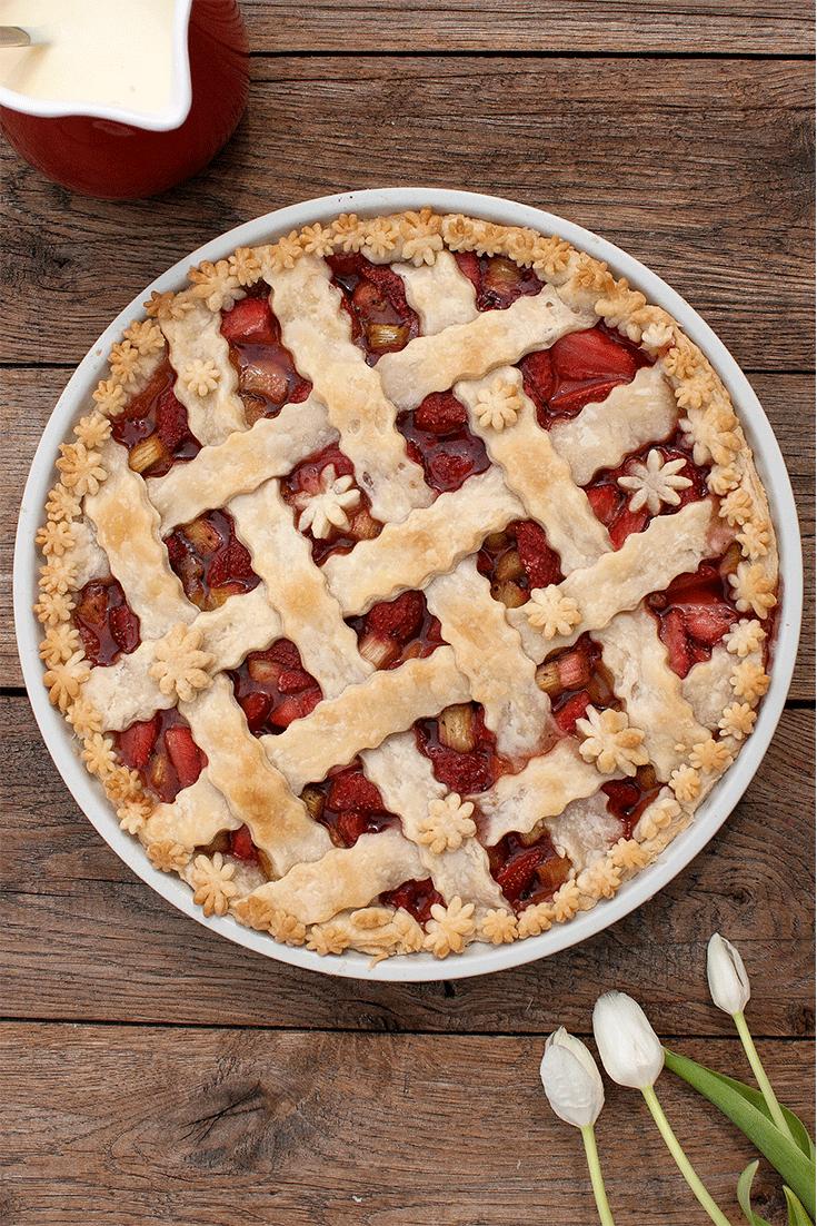 Rezept Rhabarber-Erdbeer-Pie