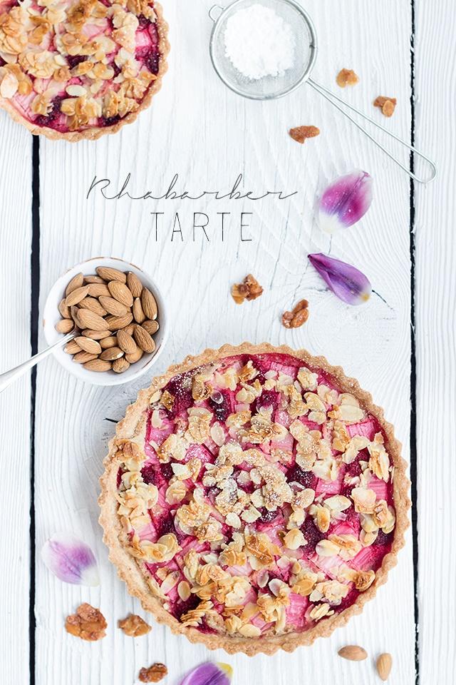 Rezept Rhabarber-Frangipane-Tarte
